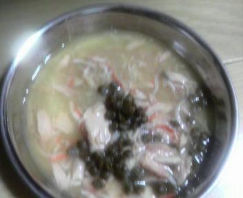 海の贅沢スープ@まぐろとかにかまとしらす添え